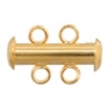 Tube Clasp With 2-strands Gold